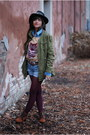 Dark-brown-forever-21-boots-forest-green-army-forever-21-jacket