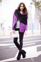 purple OASAP coat