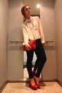 Neutral-h-m-shirt-ruby-red-sfera-bag-ruby-red-mango-heels