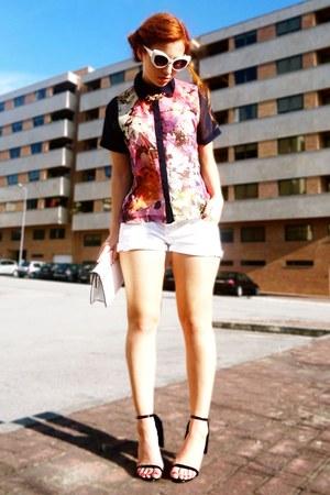 maroon Sway Chic shirt - navy Choies heels