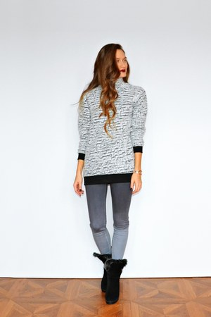 heather gray asos sweater