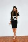 Black-asos-dress-white-aldo-bag-white-asos-belt-white-asos-sandals