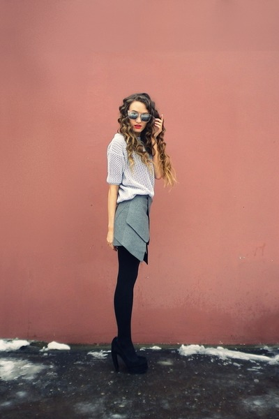 gray Taobao skirt