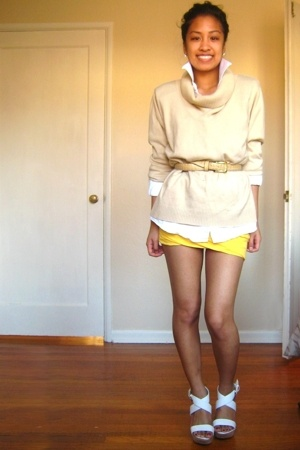 shoes - shirt - sweater - skirt