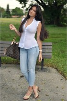Express top - Ralph Lauren shoes - American Eagle jeans - Louis Vuitton bag