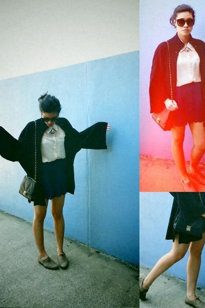 eggshell cream shirt Sugar Rose shirt - eggshell Ruby shoes - black Colette bag