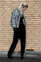 H&M jacket - GINA TRICOT blouse - TFNC pants - H&M shoes