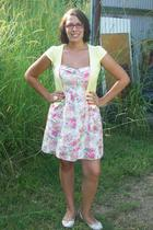 pink Myer dress - white Forever New shoes - yellow Valley Girl cardigan - white