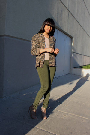 army green Zara jeans - army green camo Love Culture jacket