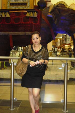 black H&M top - black H&M skirt - pink payless shoes - gold Koton accessories -