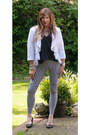 White-linen-waterfall-next-jacket-black-black-and-white-romwe-leggings