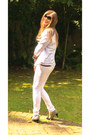 White-cotton-primark-leggings-white-cotton-georgeasda-shirt