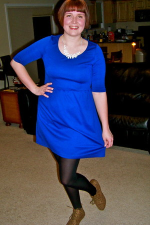 blue stretchy Fransescas collection dress