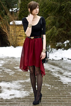 burgundy Sheinside skirt