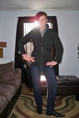 Aldo shoes - Kenneth Cole coat - Stitches jeans - Buffalo shirt