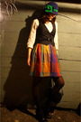 Black-thrifted-vintage-coat-black-born-shoes-red-thrifted-skirt-black-j-cr