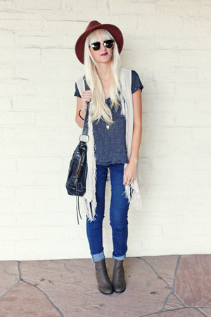 vintage boots - madewell jeans - Urban Outfitters vest