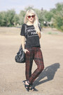 Black-choies-shoes-dark-brown-epokhe-sunglasses-maroon-zara-pants