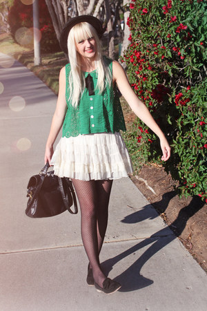 Anthropologie blouse - Forever 21 skirt - Dolce Vita loafers