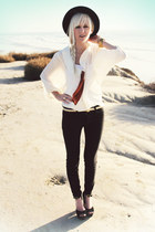 eggshell Anthropologie blouse - black Joes Jeans jeans