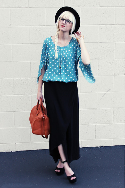 Jeffrey Campbell heels - H&M bag - JCrew skirt - Anthropologie top