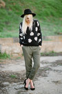 Sheinside-sweater-olive-green-ella-moss-pants