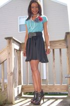 H&M shirt - H&M skirt - Steve Madden shoes