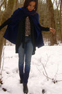 Blue-vintage-cape-jacket-black-f21-cardigan-hudson-jeans-target-shoes-ta