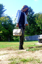reptile print vintage bag - lace up Michael Kors boots