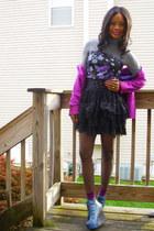 Zara blazer - Express shirt - thrifted skirt - Jeffrey Campbell shoes