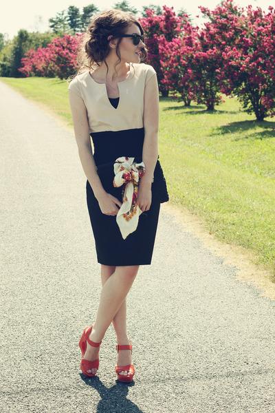 Karen Kane dress - Mossimo sandals