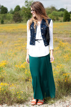 maxi skirt - Karen Kane shirt - Gap sandals - Fossil watch