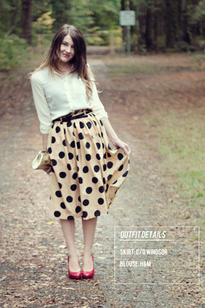 windsor skirt - H&M blouse