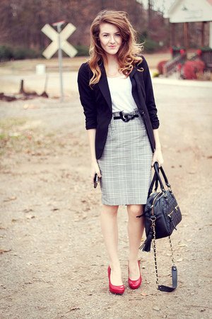 theIT bag - Charlotte Russe blazer - plaid f21 skirt