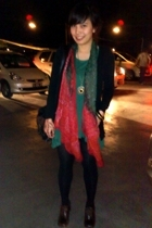sweater - top - scarf - Forever21 accessories - Guess boots - Zara purse