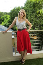 Edgars skirt - Pick n Pay vest - Mr Price wedges