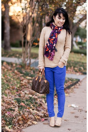 navy H&M scarf - camel patent Mossimo shoes - camel turtleneck Gap sweater