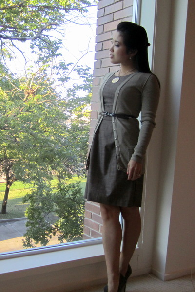 banana republic cardigan - Steve Madden shoes - BCX dress
