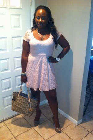 Steve Madden heels - DOTS dress - Michael Kors bag - Guess watch