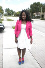 White-cotton-meet-mark-dress-hot-pink-knitwear-apostrophe-blazer