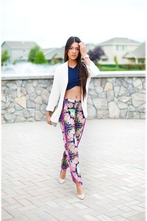 crop top TJ Maxx top - GiGi New York bag - palazzo pants Lotus Boutique pants