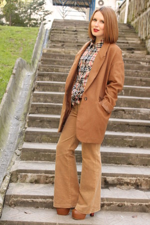burnt orange new look coat - nude Wet Seal shirt