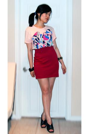 H&M t-shirt - H&M skirt - H&M accessories - Aldo shoes