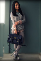 heather gray Aldo shoes - silver Zara jeans - heather gray Zara sweater - blue F