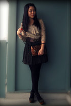 tan Mango sweater - burnt orange Mango bag - army green Uniqlo skirt - army gree