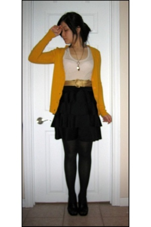 Mango sweater - Jacob top - H&M skirt - Aldo shoes - belt - necklace