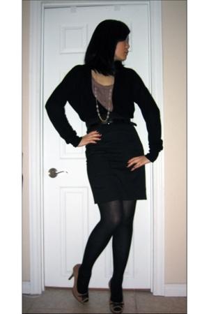 Zara sweater - Forever21 top - Forever21 skirt - shoes - Aldo necklace