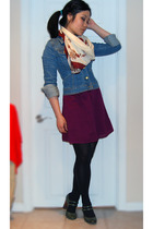 Old Navy dress - H&M jacket - Value Village scarf - tights - payless shoes