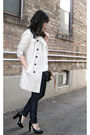 Beige-zara-coat-white-h-m-blouse-blue-forever-21-jeans-black-aldo-shoes-