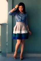 Tommy Hilfiger shirt - Zara skirt - Forever 21 necklace - Aldo pumps